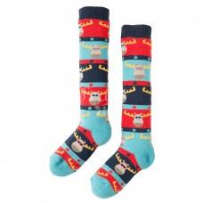 有機棉及膝襪【聖誕麋鹿戴眼鏡】2-10Y