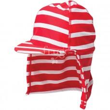 泳帽【熱情紅條紋】玩沙遮陽帽 2-4Y