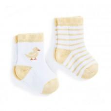 嬰兒襪二件組【黃色小鴨】0-6M