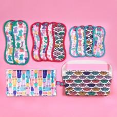 【預購】環保布衛生棉-彩繪系列/竹纖維款(花色隨機)-完整經期體驗組