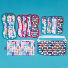 環保布衛生棉-彩繪系列/聚酯纖維款(花色隨機)-完整經期體驗組