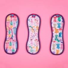 環保布衛生棉-彩繪系列/竹纖維款(花色隨機)-32cm(紫)