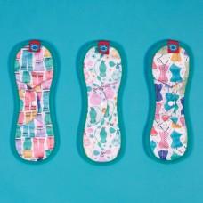 環保布衛生棉-彩繪系列/聚酯纖維款(花色隨機)-29cm(綠)