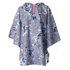 Joules斗篷雨衣【藍白條底彩花】