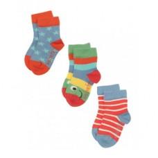 有機棉襪ACS405<三件組>0-3Y