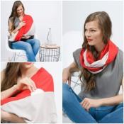 極度柔軟絲感圍脖/哺乳巾 (4)
