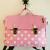 TiDi 亮粉白點點法式方型兒童書包