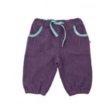 褲子<紫色綁帶束口長褲>