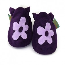 英國手工鞋-小花花purple