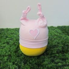 棉帽<粉紅愛心>