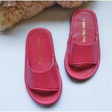 真皮堡貝拖【童款18cm粉紅】適合3-6歲拖鞋