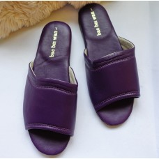 真皮堡貝拖【紫色】24cm / 25cm拖鞋
